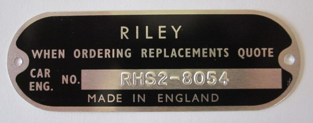 Riley chassis plate